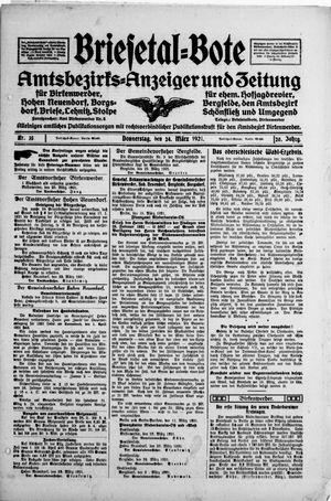 Briesetal-Bote vom 24.03.1921