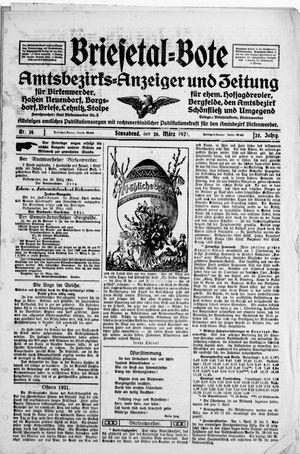 Briesetal-Bote vom 26.03.1921