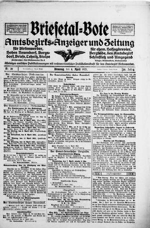 Briesetal-Bote vom 05.04.1921