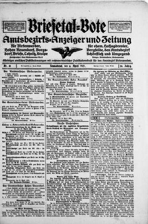 Briesetal-Bote vom 09.04.1921