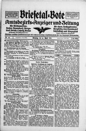 Briesetal-Bote vom 12.04.1921