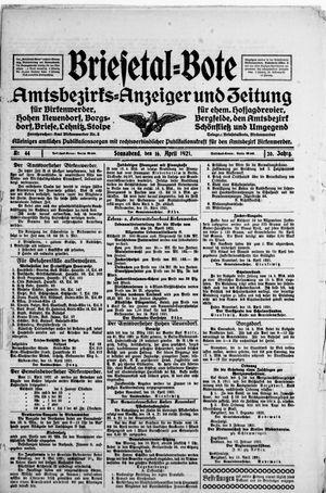 Briesetal-Bote vom 16.04.1921