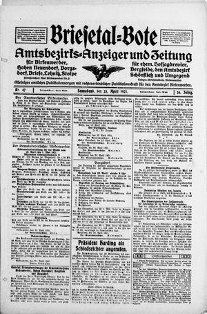 Briesetal-Bote vom 23.04.1921