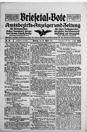 Briesetal-Bote vom 26.04.1921