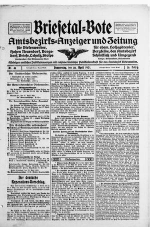 Briesetal-Bote vom 28.04.1921