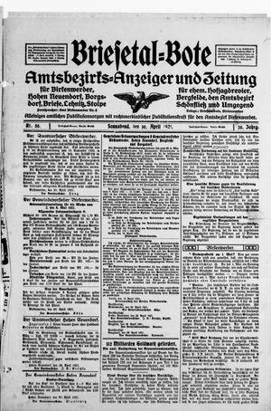 Briesetal-Bote vom 30.04.1921