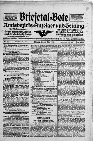 Briesetal-Bote vom 10.05.1921