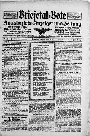 Briesetal-Bote on May 14, 1921