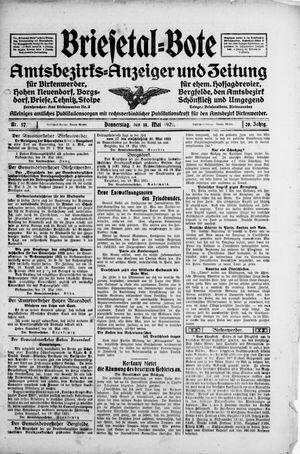 Briesetal-Bote vom 19.05.1921