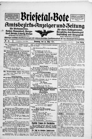 Briesetal-Bote on May 24, 1921