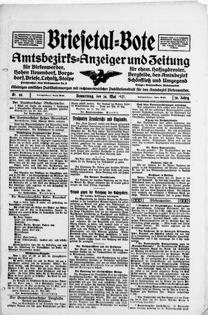 Briesetal-Bote vom 26.05.1921