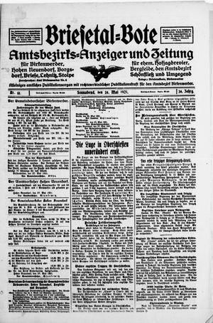 Briesetal-Bote vom 28.05.1921