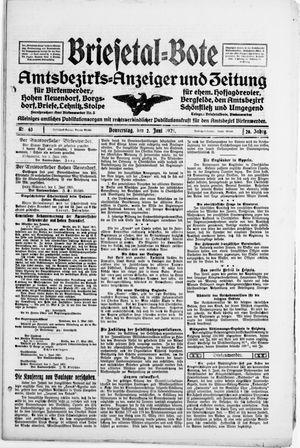 Briesetal-Bote vom 02.06.1921