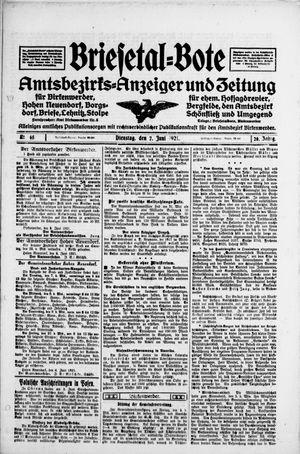 Briesetal-Bote vom 07.06.1921