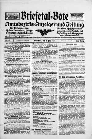 Briesetal-Bote vom 11.06.1921