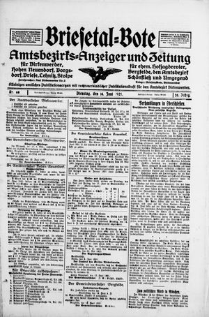 Briesetal-Bote vom 14.06.1921