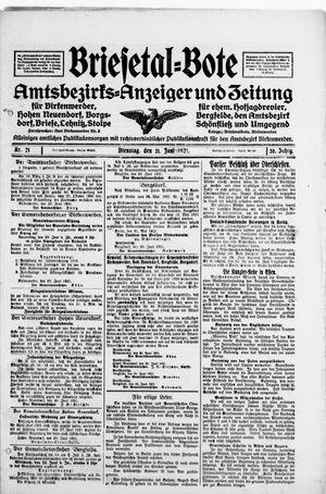 Briesetal-Bote vom 21.06.1921