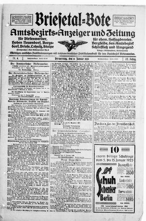 Briesetal-Bote vom 11.01.1923