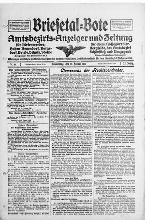 Briesetal-Bote vom 25.01.1923