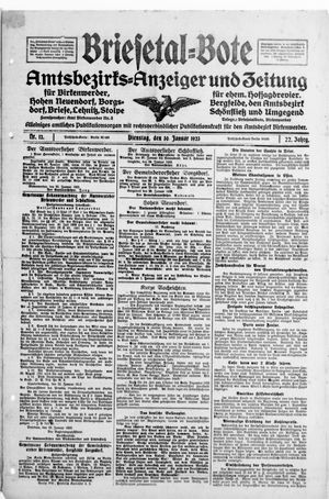 Briesetal-Bote vom 30.01.1923