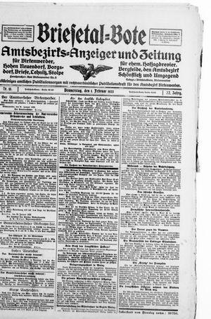 Briesetal-Bote on Feb 1, 1923