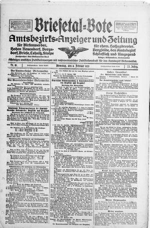 Briesetal-Bote vom 06.02.1923