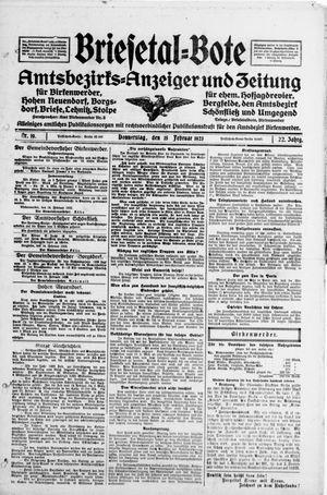 Briesetal-Bote vom 15.02.1923