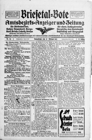 Briesetal-Bote vom 17.02.1923