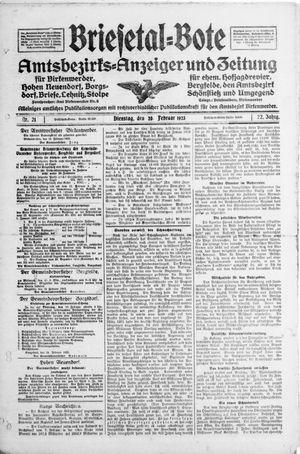 Briesetal-Bote vom 20.02.1923