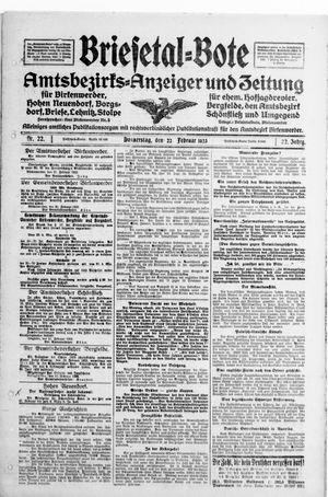 Briesetal-Bote vom 22.02.1923