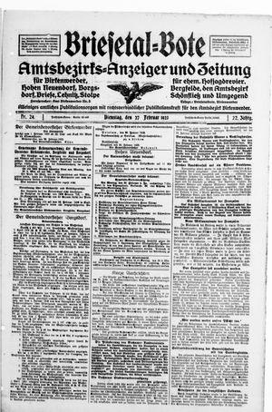 Briesetal-Bote on Feb 27, 1923