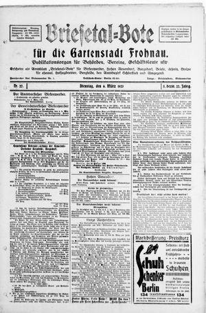 Briesetal-Bote vom 06.03.1923