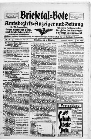 Briesetal-Bote vom 10.03.1923