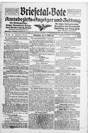 Briesetal-Bote vom 15.03.1923