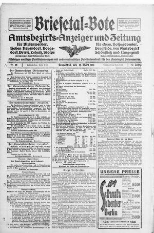 Briesetal-Bote vom 17.03.1923