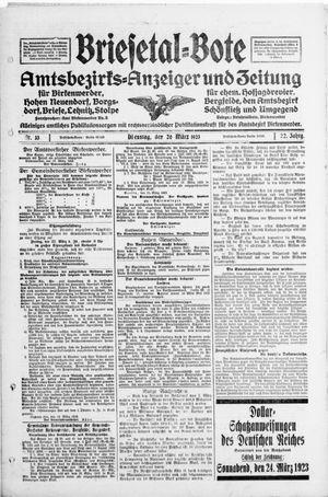 Briesetal-Bote vom 20.03.1923