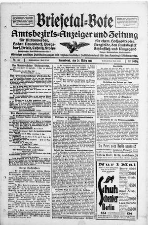 Briesetal-Bote vom 24.03.1923