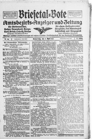 Briesetal-Bote on Apr 5, 1923