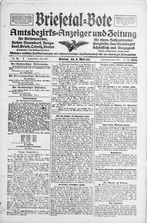 Briesetal-Bote vom 10.04.1923