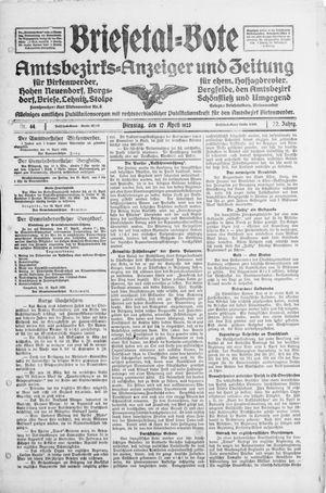 Briesetal-Bote vom 17.04.1923