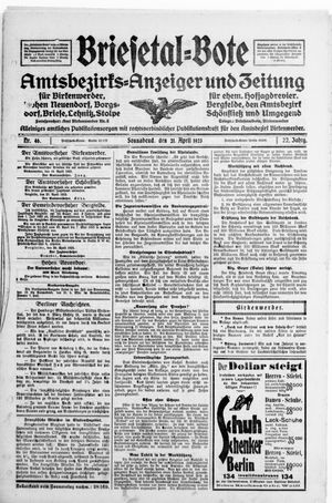 Briesetal-Bote vom 21.04.1923