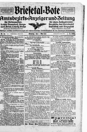 Briesetal-Bote vom 01.05.1923