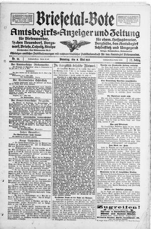 Briesetal-Bote vom 08.05.1923