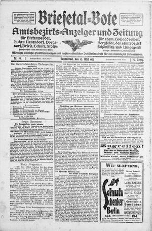 Briesetal-Bote on May 12, 1923
