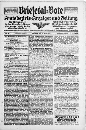 Briesetal-Bote vom 15.05.1923