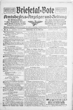 Briesetal-Bote vom 24.05.1923