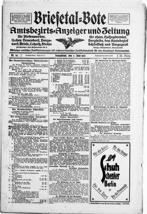 Briesetal-Bote vom 02.06.1923