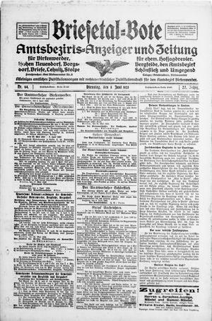 Briesetal-Bote vom 05.06.1923