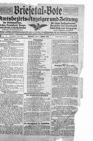 Briesetal-Bote vom 01.01.1924