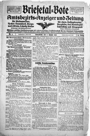 Briesetal-Bote vom 05.01.1924